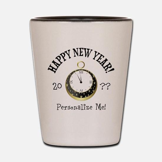 New Years Shot Glass