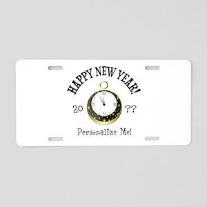 New Years Aluminum License Plate