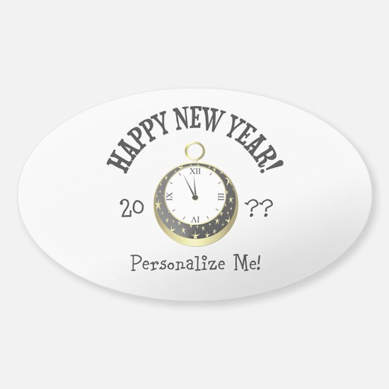 New Years Sticker (Oval)