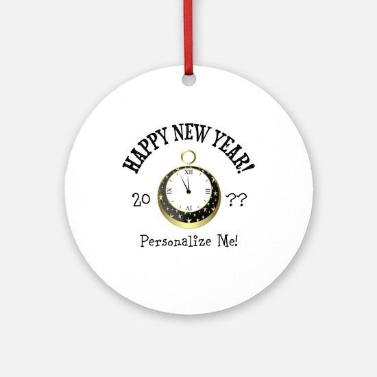 New Years Round Ornament