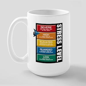 STRESS LEVEL - severe Large Mug