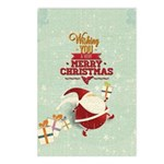 Tiny Santa With Presents Postcards (package Of 8)