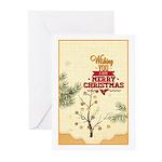 Tiny Christmas Pines Greeting Cards