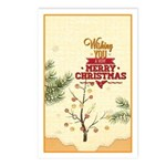 Tiny Christmas Pines Postcards (package Of 8)