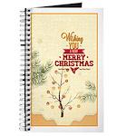 Tiny Christmas Pines Journal