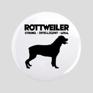 """Rottweiler 3.5"""" Button"""