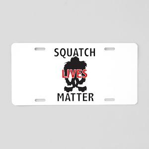 SQUATCH LIVES MATTER Aluminum License Plate
