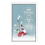 Snowy Christmas Night Postcards (package Of 8)