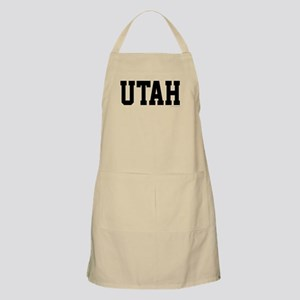 Utah Jersey Black Apron