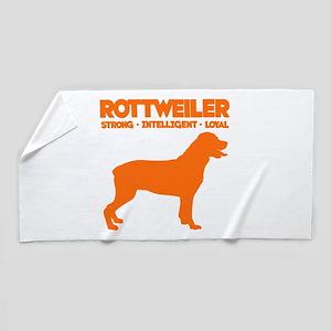 Rottweiler Beach Towel