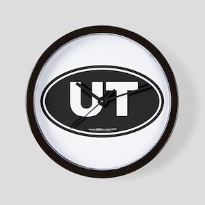 Utah UT Euro Oval Wall Clock