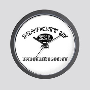 Property of an Endocrinologist Wall Clock
