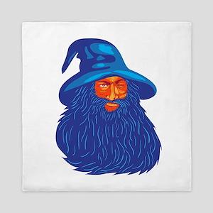 Norse God Odin Beard WPA Queen Duvet