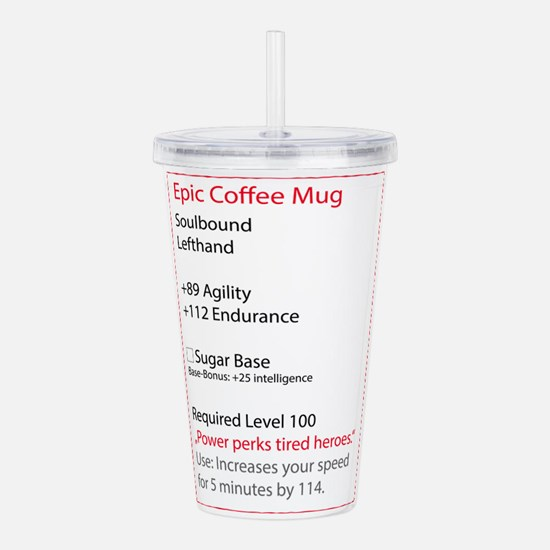 RPG Coffee Mug Acrylic Double-wall Tumbler