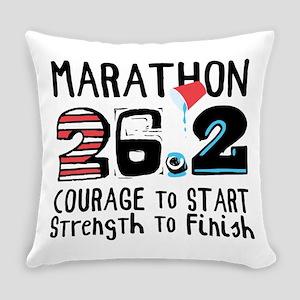 Marathon Courage Everyday Pillow