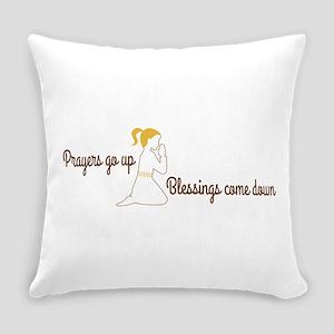 Prayers go up praying Everyday Pillow