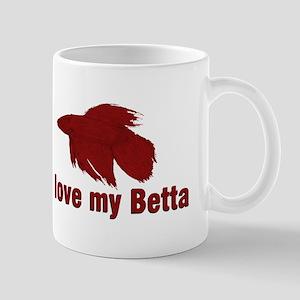 I Love My Betta Large Mugs