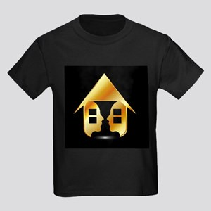 Golden house with windows and people T-Shirt