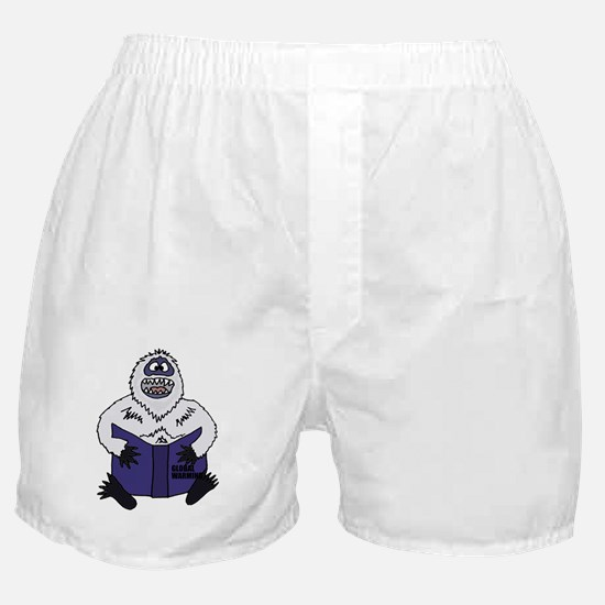 Cute Abominable snowman Boxer Shorts