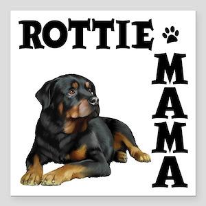 """ROTTIE MAMA Square Car Magnet 3"""" x 3"""""""