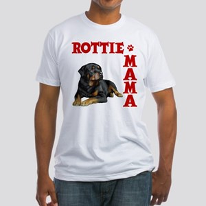ROTTIE MAMA Fitted T-Shirt
