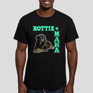ROTTIE MAMA Men's Fitted T-Shirt (dark)