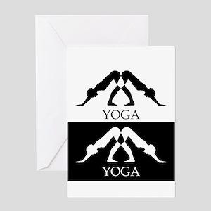 downward facing dog yoga pose Greeting Cards