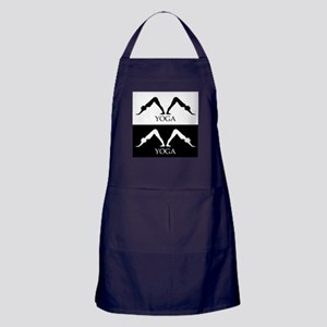 downward facing dog yoga pose Apron (dark)