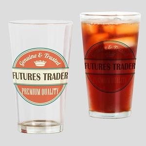 futures trader vintage logo Drinking Glass