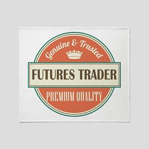 futures trader vintage logo Throw Blanket