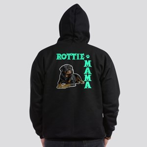 ROTTIE MAMA (both sides) Zip Hoodie (dark)