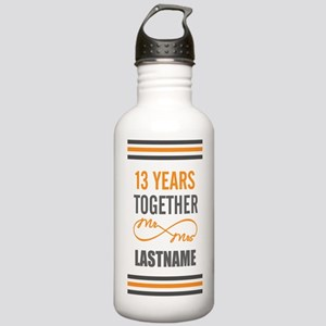 13th Wedding Anniversa Stainless Water Bottle 1.0L