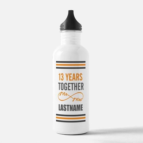 13th Wedding Anniversa Water Bottle