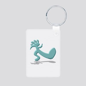 Kokopelli Truckin' Aluminum Photo Keychain