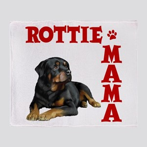 ROTTIE MAMA Throw Blanket