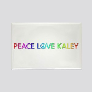 Peace Love Kaley Rectangle Magnet