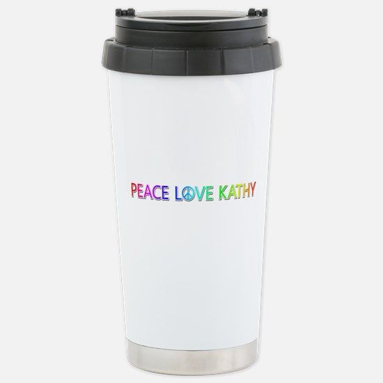 Peace Love Kathy Stainless Steel Travel Mug