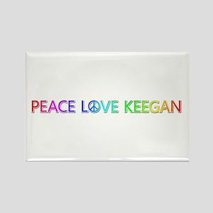Peace Love Keegan Rectangle Magnet