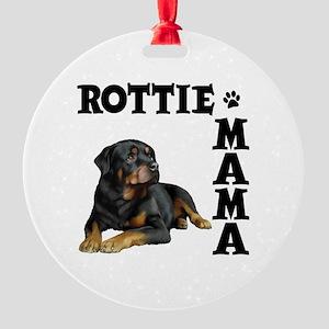 ROTTIE MAMA Round Ornament