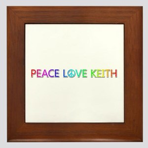 Peace Love Keith Framed Tile