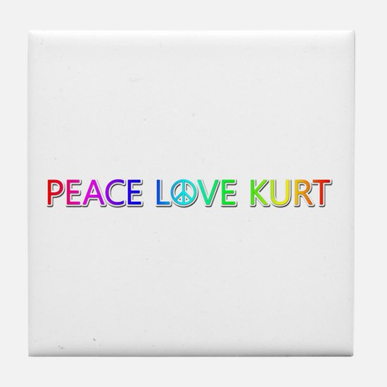 Peace Love Kurt Tile Coaster
