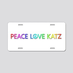 Peace Love Katz Aluminum License Plate