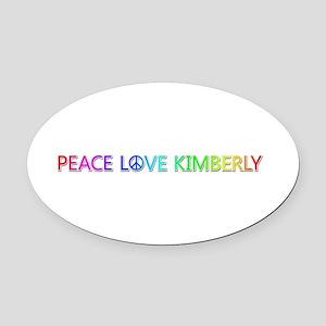 Peace Love Kimberly Oval Car Magnet