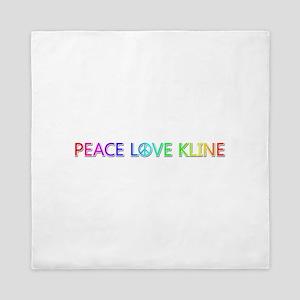 Peace Love Kline Queen Duvet
