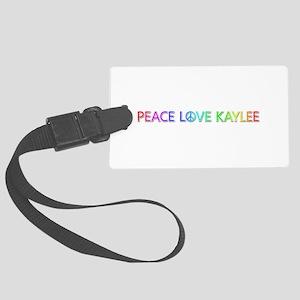Peace Love Kaylee Large Luggage Tag