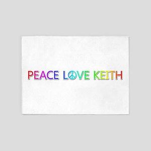 Peace Love Keith 5'x7' Area Rug