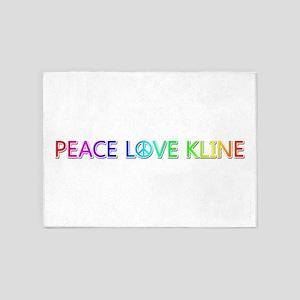 Peace Love Kline 5'x7' Area Rug