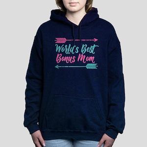 Worlds Best Bonus Mom Women's Hooded Sweatshirt