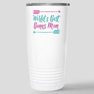 Worlds Best Bonus 16 oz Stainless Steel Travel Mug