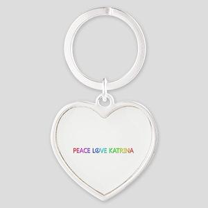 Peace Love Katrina Heart Keychain
